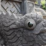 門にいる竜には目が入っていてびっくり。