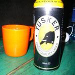 ケニアのローカルビールは「タスカー」、象のイラストがかわいい!