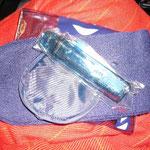 ソックス、アイマスク、歯ブラシの安眠セット。うれしい~♪