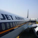 私たちは人気の「ジェット・エアー」でムンバイへ。