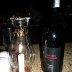 ワインは「ベリー・セクシー・シラーズ」でお願いします。お味ももちろんベリー・セクシーでした。ギャルソンと目を合わせてニヤリ。。。