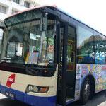 でも貧乏旅行な私たちは、無料バスに乗って市内観光。