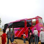 1日1本の定期バスに乗ってサマリンダまで戻ります。