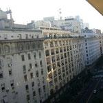 ホテルから見た景色。「南米のパリ」っぽい?