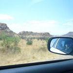 岩山と草原だけが延々と続きます。