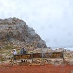 ここがアフリカ大陸最南端の喜望峰=英語で「Cape of good hope」。でも、「ポルトガル人にとっての」という意味らしいです。