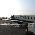 航空会社は「ブッダ・エアー」。ありがたい名前です。