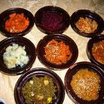 韓国料理の前菜みたい。。。