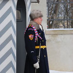 プラハ城の入り口にいる衛兵さん。
