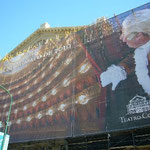 世界三代劇場のひとつ、コロン劇場は工事中。またもや工事中。もう世界中工事中です(泪)