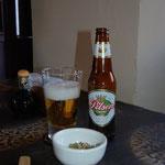 女性に合うらしい、ピルセン・ビール。高地順応済みなので、飲んじゃいます。