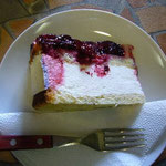 のりのりはブルーベリー・チーズケーキ。いただきま~す!