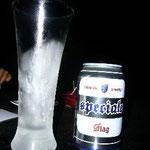 5日ぶりのビール!グラスが冷えているのがうれしい(泪)