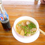 今日のランチ。チャーシュー麺。タイ料理にはずれなし!