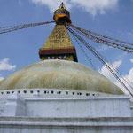 ボダナート。ネパール最大のストゥーパがあります。