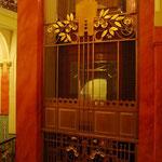 エレベーターホールも、もちろんアール・ヌーボー。