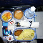 機内食にもチキン・ティカ。