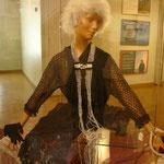 ダウンタウンにある博物館にて。年代別のファッションが展示されていました。