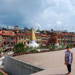中国による武力併合以降、たくさんのチベット人が、この地に移ってきたそうです。