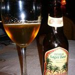 モロッコのローカル・ビール「カサブランカ」。これは高級銘柄だけあって美味しい。