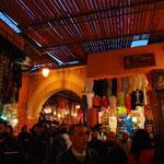 マラケシュのスーク(市場)は、スノコの屋根が目印です。