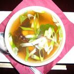 干ししいたけの味が出て、美味しかった味噌スープ!