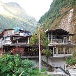 マチュピチュ村は、渓流の音が聞こえて、まるで温泉地みたい。