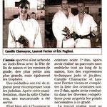 29 Juillet 2007 (Midi Libre): Remise de Grades (Camille C.; Eric P., Laurent F.)