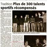 10 Décembre 2007 (Midi Libre): Soirée des Talents Sportis - Frontignan