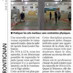 12 Octobre 2017 (Midi Libre): Un nouveau cours au JKF, Judo Loisir