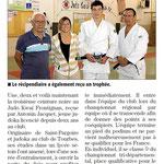 19 Octobre 2015 (Midi Libre): CN pour Antonin Jacquet
