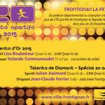 06 Décembre 2015 (Midi Libre): Talent de Diamant - Jean-Claude Ferrier