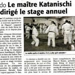16 Avril 2007 (Midi Libre): Stage de Pâques 2007