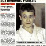 24 Février 2010 (Midi Libre): Jérémy Dollé s'attaque aux meilleurs français