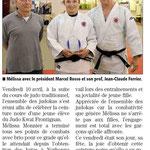 25 Avril 2015 (Midi Libre): CN pour Mélissa Monnier