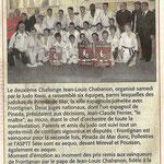 28 Janvier 2011  (Midi Libre): Challenge Chabanon: Le doublé pour le JKF !