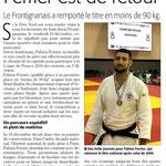 06 Janvier 2017 (Midi Libre): Fabien Ferrier, vainqueur de la Coupe de France