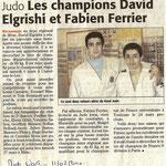 11 Février 2010 (Midi Libre): Les Champions David Elgrishi et Fabien Ferrier