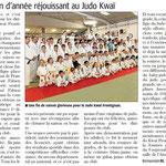 25 Juillet 2013 (Midi Libre): Bilan de saison réjouissant au JKF