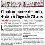 07 Décembre 2013 (Midi Libre): Papy Rosso, 75 ans, 4ème Dan !