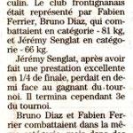 28 Mai 2008 (Midi Libre): Résultats 3ème Division (Jérémy S., Bruno D., Fabien F.)