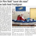 28 Décembre 2016 (Midi Libre): Le Père Noël sauvé des eaux au JKF