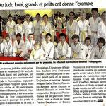 20 Avril 2011 (Midi Libre): Grands & Petits ont donné l'exemple