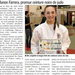 25 Février 2016 (Midi Libre): CN pour Manon Farrera