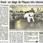 07 Mai 2011 (Midi Libre): Un Stage de Pâques International