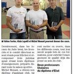 08 Juillet 2013 (Midi Libre): De nouveaux diplômés au JKF
