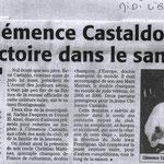 25 Février 2009 (Midi Libre): 1er Dan Clémence Castaldo