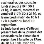 04 Septembre 2007 (Midi Libre): Rentrée Sportive