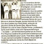 21 Novembre 2006 (Hérault du Jour): Laura Michel et Jérémy Senglat 1er Dan