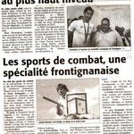 25 Décembre 2008 (Midi Libre): Les Sportifs Frontignanais